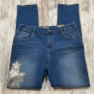 NWT Chico's Regular Girlfriend Sequins Jeans
